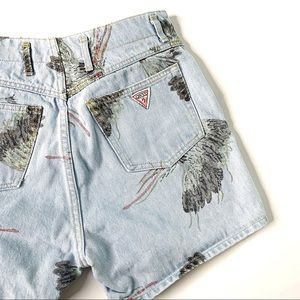 VINTAGE 80s GUESS George Marciano Jean Shorts